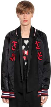 Facetasm Nylon Bomber Jacket W/ Wool Vest
