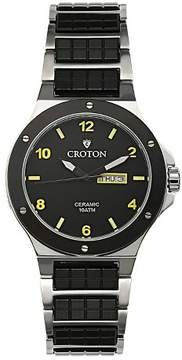 Croton Men's Dress Watch with Stainless Steel Band