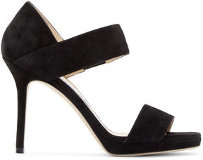 Jimmy Choo Black Suede Alana Sandals