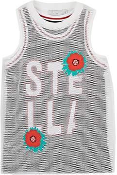 Stella McCartney Kids' Floral-Embroidered Layered-Mesh Dress