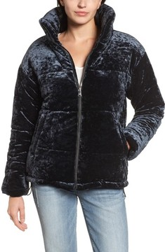 Bernardo Women's Oversize Velvet Bomber Jacket