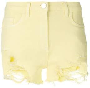 Elisabetta Franchi denim ripped shorts