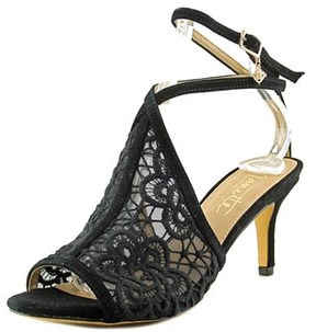 Nanette Lepore Bonnie Women Open-toe Canvas Black Slingback Heel.