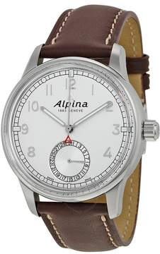 Alpina Alpiner Manufacture Silver Dial Brown Leather Men's Watch