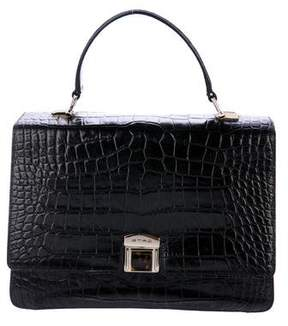 Etro Embossed Leather Handle Bag