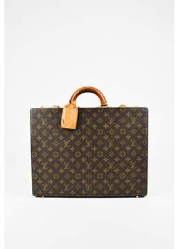 Louis Vuitton Pre-owned Vintage Brown Monogram Coated Canvas President Hardshell Briefcase.