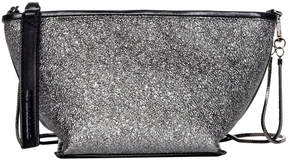 Christopher Kon Crushed Pewter After Party Leather Crossbody Bag