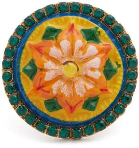 Dolce & Gabbana Crystal-embellished floral ring