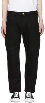 Junya Watanabe Black Carhartt Edition Canvas and Faux-Leather Trousers