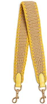 Anya Hindmarch Blanket-stitched crochet bag strap
