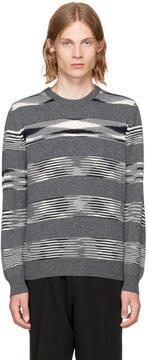 Missoni Grey Striped Crewneck Sweater
