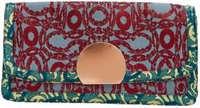 Dries Van Noten Red Cloth Clutch Bag