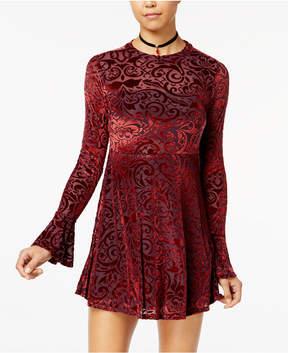 American Rag Juniors' Velvet Burnout Babydoll Dress, Created for Macy's