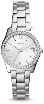 Fossil Scarlette Three-Hand Date Stainless Steel Watch