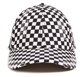 21men 21 MEN Men Checkered Distressed Baseball Cap
