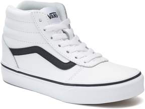Vans Ward Hi Kids Leather High-Top Skate Shoes