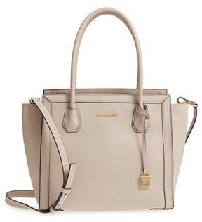 Michael Kors Mercer Studio Leather Tote - BROWN - STYLE