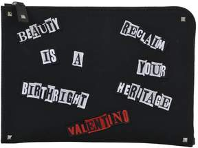 Valentino Document Holder W/patches