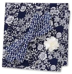 Original Penguin Shlomo Dot Pre-Tied Bow Tie, Floral Pocket Square, & Dot Lapel Pin Box Set