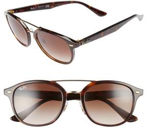 Ray-Ban Men's Highstreet 53Mm Gradient Lens Sunglasses - Brown Havana