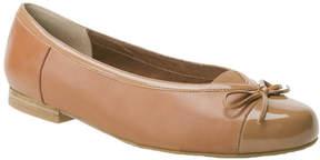 Ros Hommerson Tan Oriel Leather Flat - Women