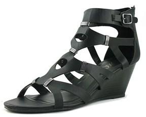 XOXO Sarelia Open Toe Synthetic Wedge Sandal.