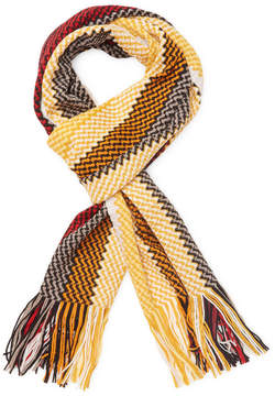 Missoni Men's Crochet Wool Long Scarf