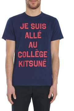 Kitsune Je Suis Allé Au Collège Print T-shirt