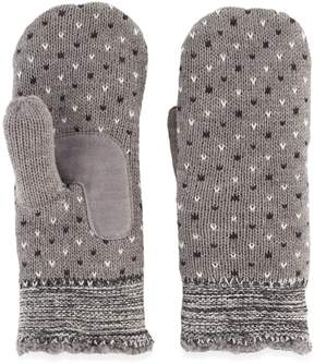 Isotoner Women's Bird's-Eye Knit Mittens