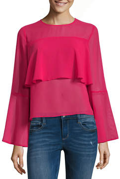 BELLE + SKY Bell Sleeve Tiered Ruffle Top