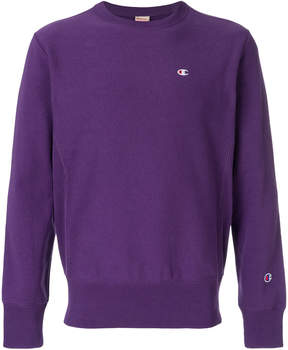 Champion chest logo embroidery sweatshirt