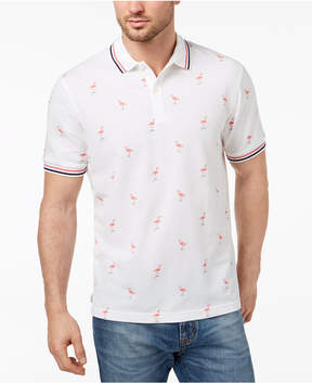 Club Room Men's Flamingo-Print Polo, Created for Macy's