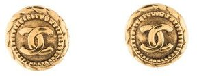 Chanel CC Round Clip-On Earrings
