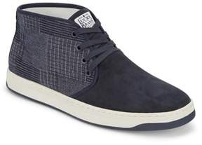 Lucky Brand Mens Payne Suede/cotton Hightop Casual Navy Shoe.