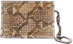 Alaia Grey Python Clutch Bag
