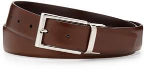 Ermenegildo Zegna Matte Reversible Belt, Brown/Cognac