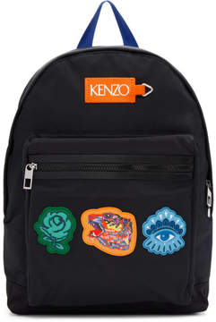 Kenzo Black Go Tigers Capsule Backpack