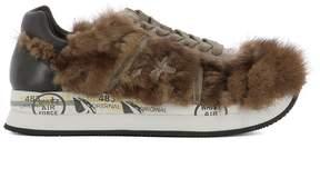 Premiata Brown Fur Sneakers