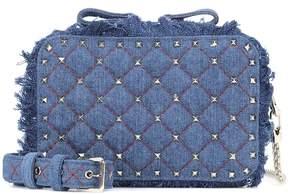 Valentino Rockstud Spike denim shoulder bag