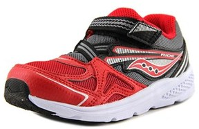Saucony Baby Ride Youth Round Toe Canvas Red Walking Shoe.