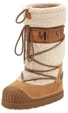 Moncler Venus Shearling Fur Moon Boot