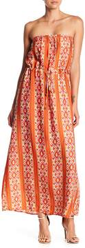 Collective Concepts Strapless Print Maxi Dress
