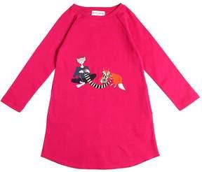 Sonia Rykiel Fox Embroidered Cotton Interlock Dress
