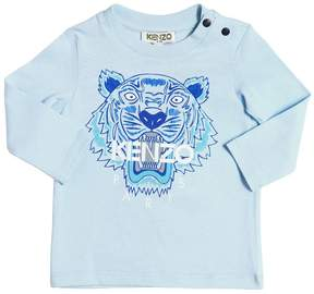 Kenzo Tiger Printed Cotton Jersey T-Shirt
