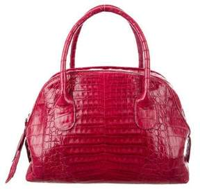 Nancy Gonzalez Crocodile Leaf Bowler Bag