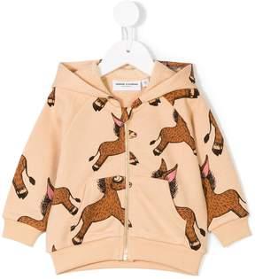 Mini Rodini donkey print zipped hoodie