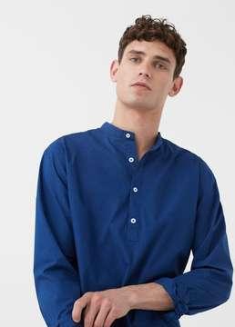 Mango Outlet Regular-fit mao collar shirt