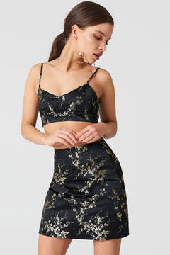 NA-KD Na Kd Flower Patterned Mini Skirt
