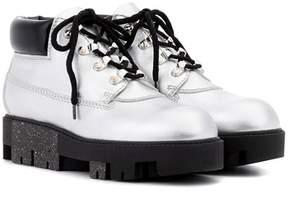 Acne Studios Tinne metallic leather ankle boots