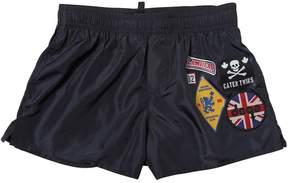 DSQUARED2 Patches Nylon Swim Shorts